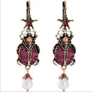 Red bug piercing Earrings
